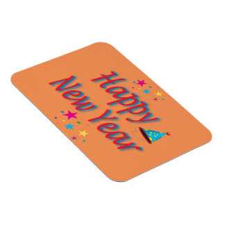 Happy New Year Message Rectangular Magnets