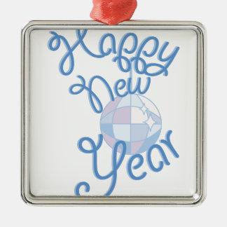 Happy New Year Metal Ornament