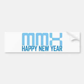Happy New Year MMX (blue) Bumper Sticker