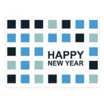 happy new year (mod squares) postcards