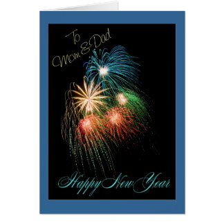 Happy New year mom and dad Card