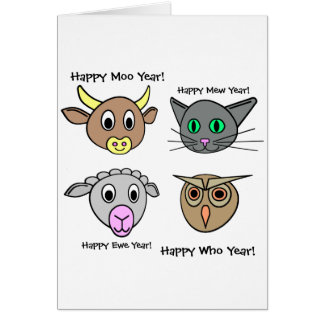 Happy New Year, Moo Year! Greeting Cards