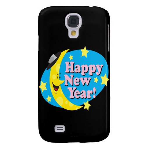 Happy New Year Moon Galaxy S4 Cases