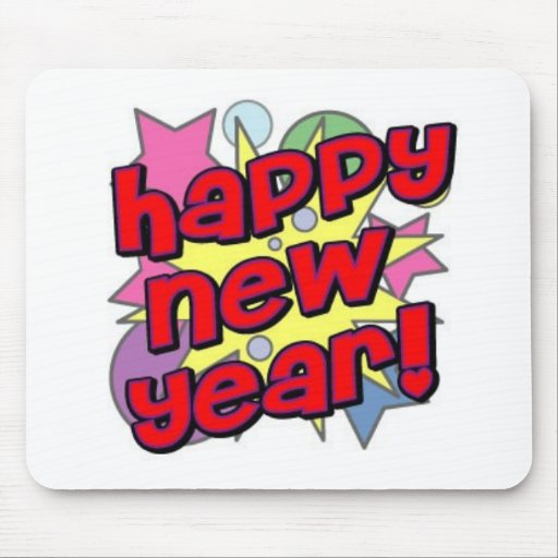 Happy New Year! Mouse Pad