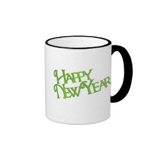 Happy New Year Ringer Coffee Mug