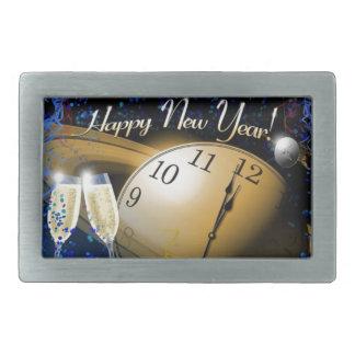 Happy New Year NASA Theme Rectangular Belt Buckle