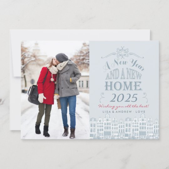 happy new year new home holiday photo card