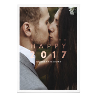 Happy New Year! | New Year Gold Holiday Photo Card