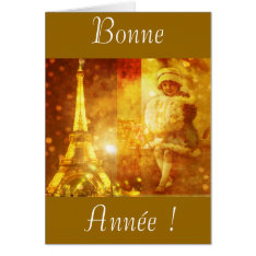 Happy new year of Paris Card at Zazzle