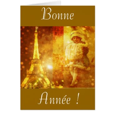 Christmas Themed Happy new year of Paris Card