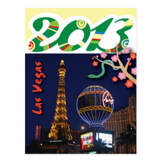 Happy New Year of Snake in 2013 from Las Vegas Postcard