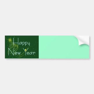 HAPPY NEW YEAR OLIVE by SHARON SHARPE Bumper Sticker
