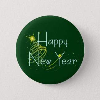 HAPPY NEW YEAR OLIVE by SHARON SHARPE Button