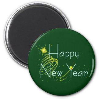 HAPPY NEW YEAR OLIVE by SHARON SHARPE Fridge Magnets