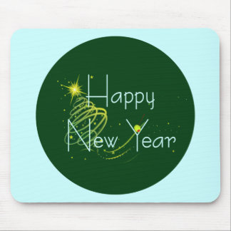 HAPPY NEW YEAR OLIVE by SHARON SHARPE Mouse Pad