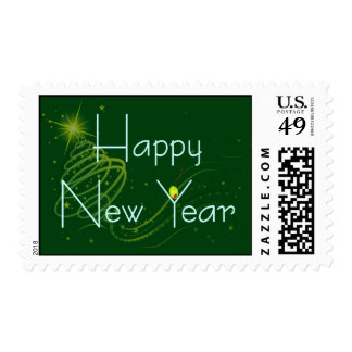 HAPPY NEW YEAR OLIVE by SHARON SHARPE Stamp