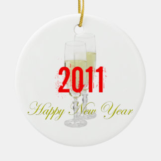 Happy New Year Ornament Template