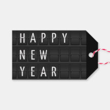 happy new year pack of gift tags