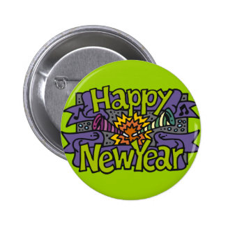 Happy New Year Parties Button