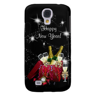 Happy New Year Party Champagne Samsung Galaxy S4 Covers