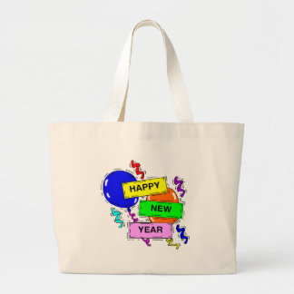 Happy New Year Party Event Jumbo Tote Bag