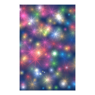 Happy New Year Party Glitter Stars Stationery