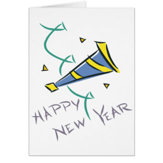 Happy New Year Party Hat Card