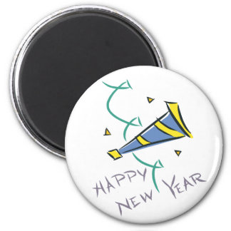 Happy New Year Party Hat Magnets