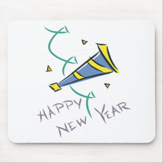 Happy New Year Party Hat Mousepad