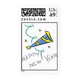 Happy New Year Party Hat Postage Stamp