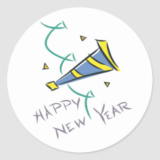 Happy New Year Party Hat Stickers
