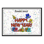 Happy New Year Party Hats Business Card Templates