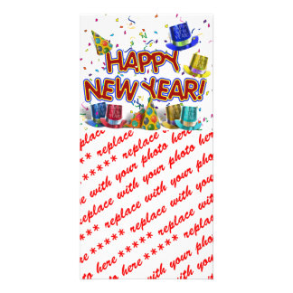Happy New Year Party Hats Card