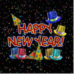 Happy New Year Party Hats Cut Out