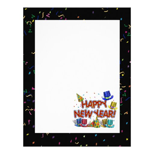 Happy New Year Party Hats Letterhead
