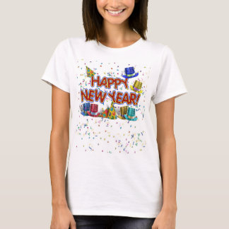 Happy New Year Party Hats T-Shirt