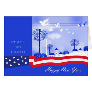 Happy New Year. Peace on Earth Design Cards