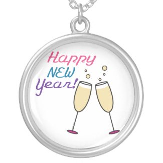Happy New Year Pendant necklace