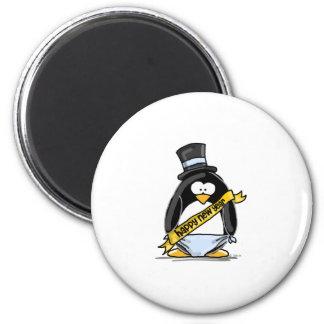 Happy New Year Penguin Magnet