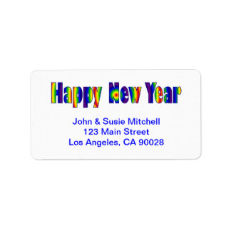 Happy New Year Personalized Address Label