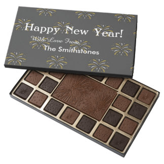 Happy New Year Personalized Chocolate Box