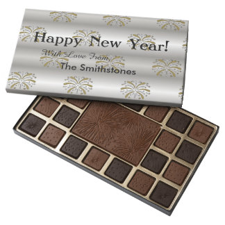 Happy New Year Personalized Gift Chocolate Box