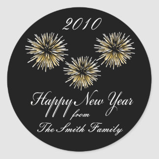 Happy New Year - Personalized Sticker Labels