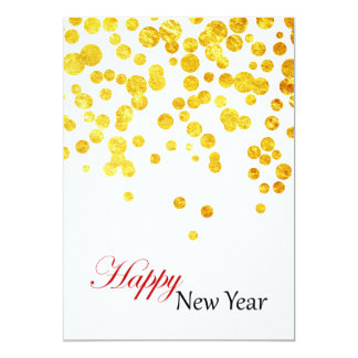 Happy New Year Photo Card | Lucky Gold Coins