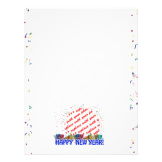 Happy New Year Photo Frame Custom Letterhead