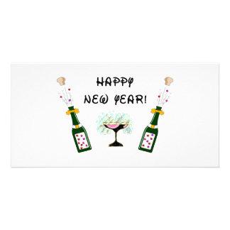 Happy New Year Custom Photo Card
