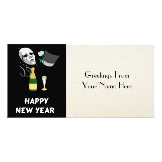 Happy New Year Customized Photo Card