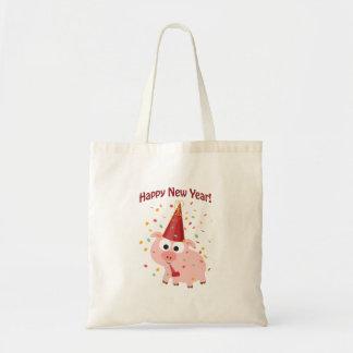 Happy New Year Pig Tote Bag