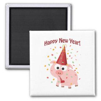 Happy New Year Pig Fridge Magnet
