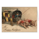 Happy New Year Pigs Cards